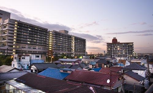 Sunset on アパート