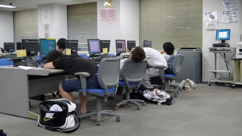 Computer lab, 5-45am