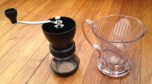 Kyocera grinder and clever coffee dripper 008